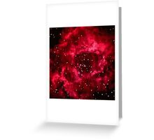 Pixel Red Nebula Greeting Card