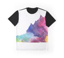Watercolor Map of Virginia, USA in Rainbow Colors - Giclee Print of My Own Watercolor Painting Graphic T-Shirt