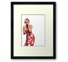 Miley Cyrus performing on Jimmy Fallon  Framed Print