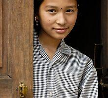 Nepali girl by Konstantinos Arvanitopoulos