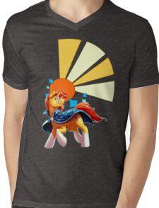 Sunburst Cutiemark Mens V-Neck T-Shirt
