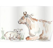 Daisy, the Jersey cow Poster
