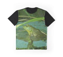 Frog on a Lily Pad  Graphic T-Shirt
