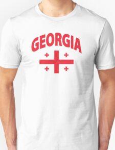 Georgia Flag in Georgia Map Unisex T-Shirt