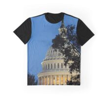 Sun Setting on Capitol Building Graphic T-Shirt
