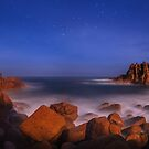 Moonlight Serenade - Pinnacles Phillip Island by Mark Shean