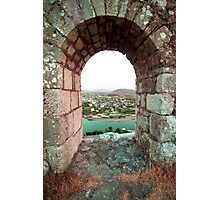 Castle Window - Travel Photography Photographic Print