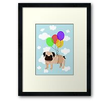 Pug in the sky Framed Print