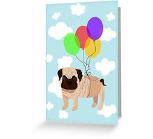 Pug in the sky Greeting Card