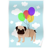 Pug in the sky Poster