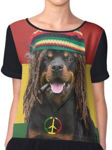 Rasta Dog Chiffon Top