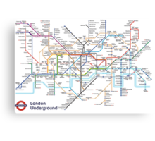 London Underground MAP Canvas Print