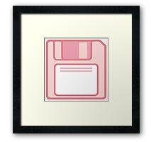 Floppy Disk ver Pink Framed Print