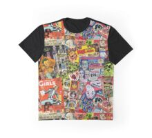 Halloween Ad Collage Graphic T-Shirt