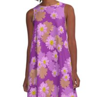 Pink Daisy A-Line Dress