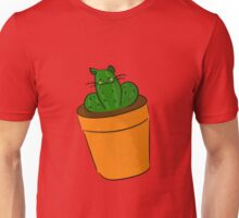 Cattus : Cat Cactus Mutant Watercolor Plant Art Unisex T-Shirt