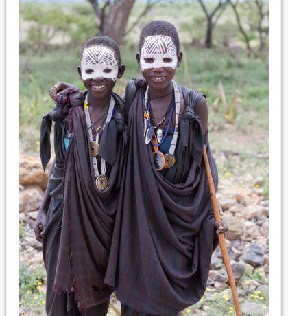 Maasai Boys Sticker