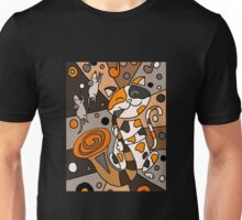 Cat Playing Saxophone Abstract Art Unisex T-Shirt