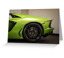 Verde Ithaca is a must on a Lamborghini Aventador! Greeting Card