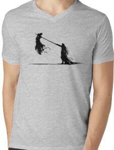 Cloud and Sephiroth Mens V-Neck T-Shirt