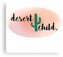 desert child. Canvas Print