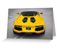 Aventador From Above Greeting Card