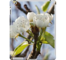 white flowers on trees iPad Case/Skin