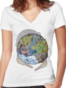 Island Of Angels Women's Fitted V-Neck T-Shirt