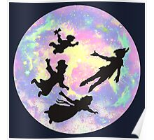 Never Grow Up Peter Pan Neverland Poster