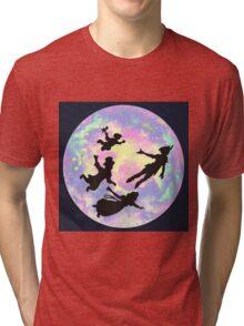 Never Grow Up Peter Pan Neverland Tri-blend T-Shirt
