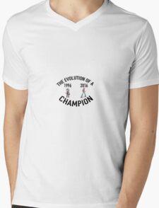 POKEMON EVOLUTION OF THE CHAMPION (BLACK TEXT) Mens V-Neck T-Shirt