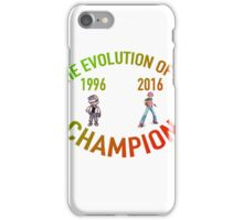 POKEMON EVOLUTION OF THE CHAMPION (COLOR TEXT) iPhone Case/Skin