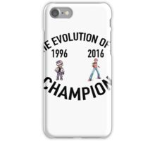 POKEMON EVOLUTION OF THE CHAMPION (BLACK TEXT) iPhone Case/Skin