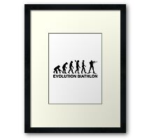 Evolution Biathlon Ski Framed Print