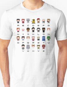 Doctor Who Alphabet Unisex T-Shirt