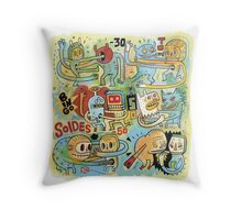 Training for days of sales (J-3) Throw Pillow