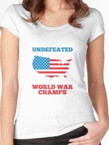 Undefeated World War Champions Women's Fitted Scoop T-Shirt