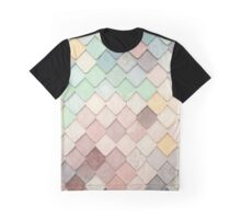 Rainbow Pastel Scales Graphic T-Shirt