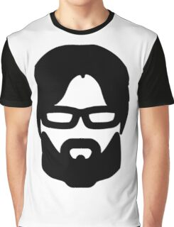 Hipster Silhouette #5 - Glasses Beard (Asian Man) Graphic T-Shirt