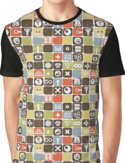 Robots on buttons Graphic T-Shirt
