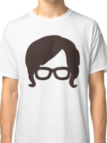 Hipster Silhouette #6 - Retro Hair/Sideburns, Glasses Classic T-Shirt