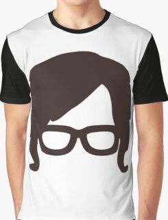 Hipster Silhouette #6 - Retro Hair/Sideburns, Glasses Graphic T-Shirt