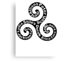 Triskellion - Names Canvas Print