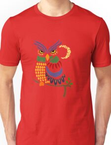 Cool Artistic Colorful Owl Abstract Art Original Unisex T-Shirt