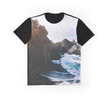 Cliff, Wave, and Beach Graphic T-Shirt
