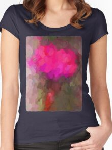 Pink Dandelion 4 Women's Fitted Scoop T-Shirt