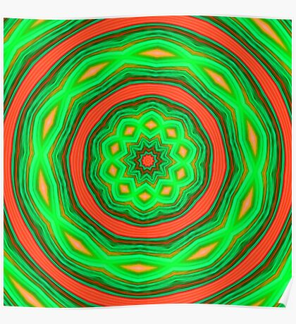 Orange and Green Circles Poster