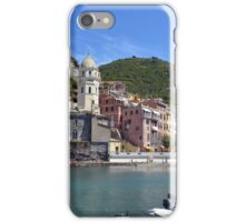 Boats on the coast of Vernazza, Vulnetia, a small town in province of La Spezia, Liguria, Italy. It is one of the lands of Cinque Terre, UNESCO World Heritage Sit iPhone Case/Skin