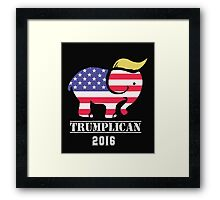 "Trumplican 2016. Trump  ""Make America Great Again"" Framed Print"