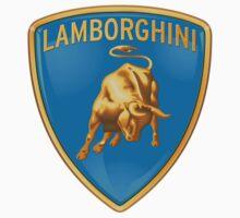 custom blue Lamborghini logo Kids Tee